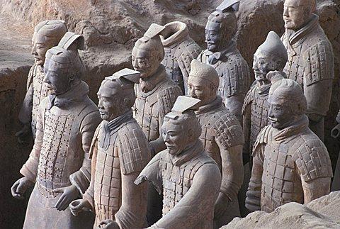 Terracotta Warriors Tomb, Xian, China, Asia