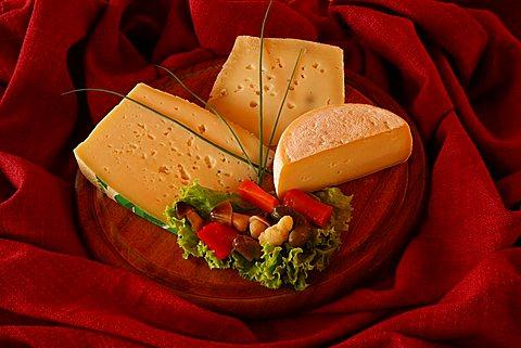Cheeses, Malga Brigolina farm holidays, Bondone mountain, Trentino Alto Adige, Italy