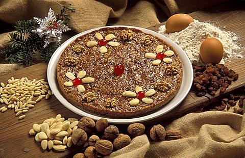 Zelten typical dessert, Trentino Alto Adige, Italy