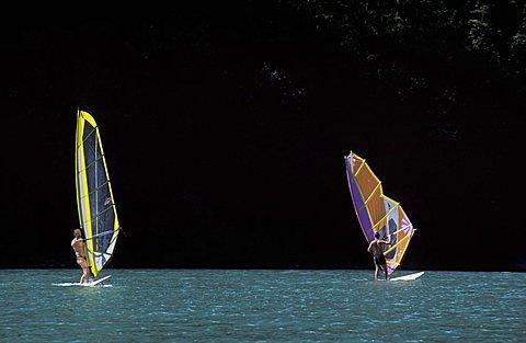 Windsurf, Lamar lake, Trentino Alto Adige, Italy