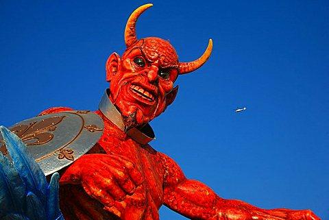 Devil mask, Carnival 2007, Viareggio, Tuscany, Italy