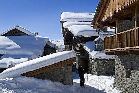 Foreshortening, Chamois, Valle d'Aosta, Italy