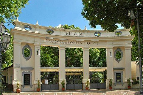 Entrance, Thermal bath, Fiuggi, Lazio, Italy