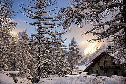 Foreshortening, Courmayeur, Val Ferret, Valle d'Aosta, Italy