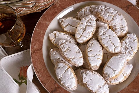 Ricciarelli, Sienese biscuits, Tuscany,  Italy