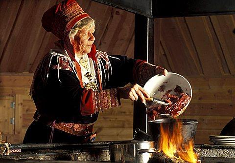 Alli Autto lappish chef, Lappland, Finland, Europe