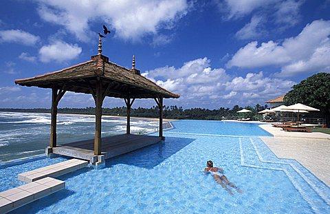 Swimming pool, Saman Villas residence, Bentota, Sri Lanka, Asia