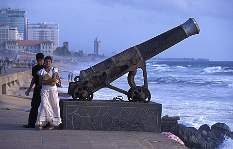 Promenade, Galle Road, Colombo, Sri Lanka, Indian Ocean, Asia