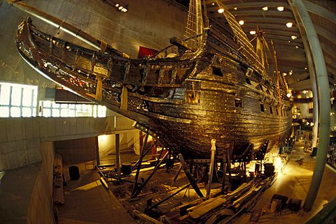 Regalskeppet Vasa, Vasa Museum, Stockholm, Sweden, Europe