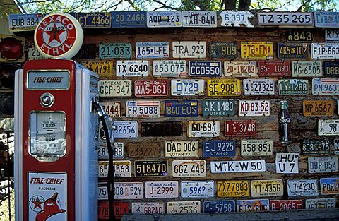 License plates, Moab, Utah, United States of America, North America