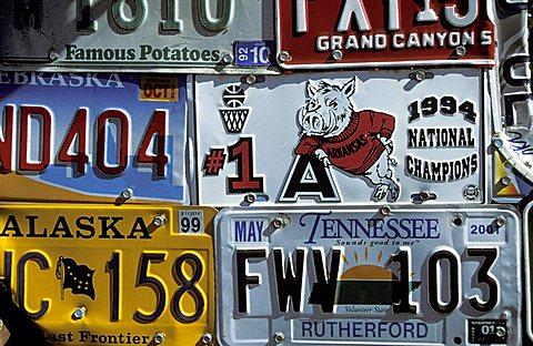 License plates, Utah, United States of America, North America