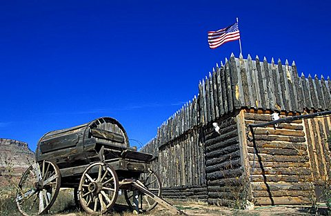 Blockhouse, Historical site, Arizona, United States of America, North America
