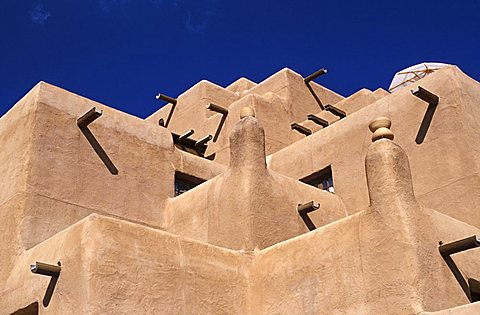 Adobe style, Santa Fé, New Mexico, United States of America, North America