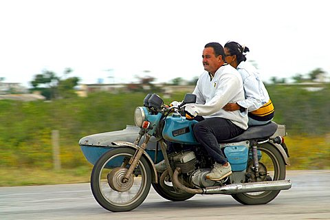 Motorcycle, Havana, Cuba, West Indies, Central America