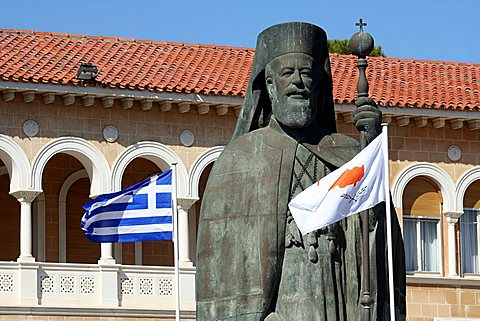Statue of Makarios III, Nicosia, Cyprus Island, Greece, Europe