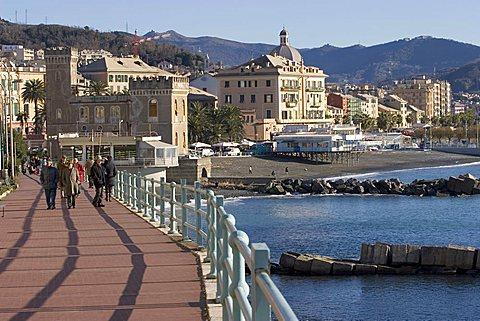 Promenade, Pegli, Ligury, Italy