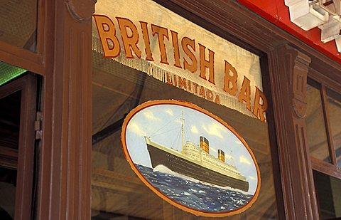 British bar, Rua o Arsenal, Lisbona, Portugal, Europe