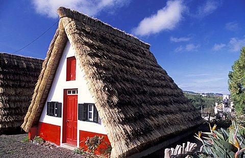 Santana's straw house, Funchal, Madeira Island, Portugal, Europe