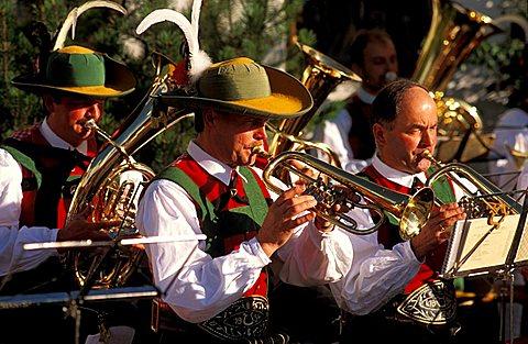 Celebration of return from summer pasture, Val Pusteria, Trentino Alto Adige, Italy
