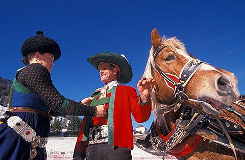 Typical costumes, Alta Badia, Trentino Alto Adige, Italy