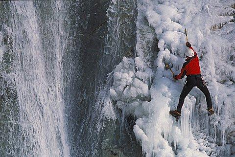 Frozen waterfall, Valpelline, Valle d'Aosta, Italy