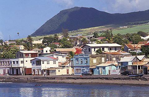The capital city: Basseterre, Saint Kitts and Nevis, Leeward Islands, Caribbean Islands, Central America, Atlantic Ocean