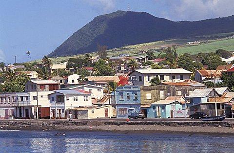 The capital city: Basseterre, Saint Kitts and Nevis, Leeward Islands, Caribbean Islands, Central America, Atlantic Ocean