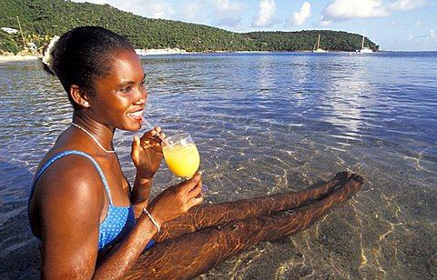 Woman, Antigua, Caribbean, Central America