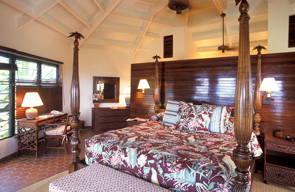 Room, Jumby Bay hotel, Long Island, Antigua, Caribbean, Central America