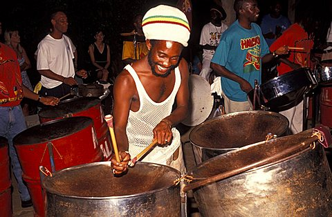 Steel band, Antigua, Caribbean, Central America