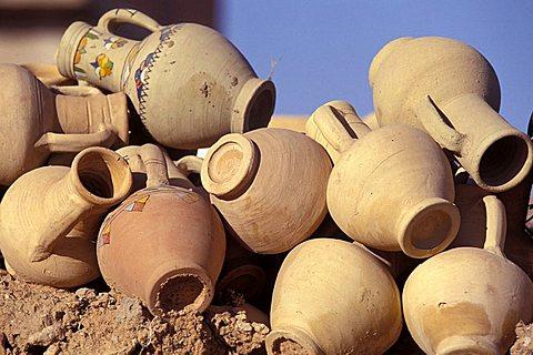Pots, Jerba island, Tunisia, North Africa, Africa