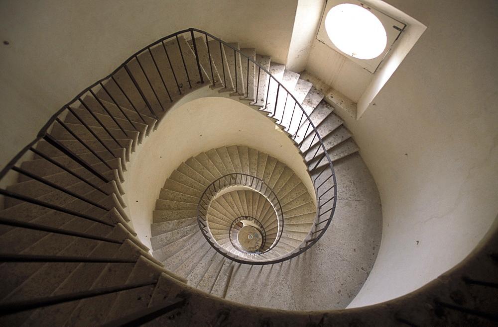 Helicoidal stair, Villa Pepoli, Trecenta, Veneto, Italy