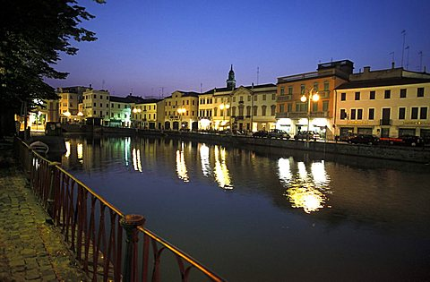 Adria by night, Veneto, Italy