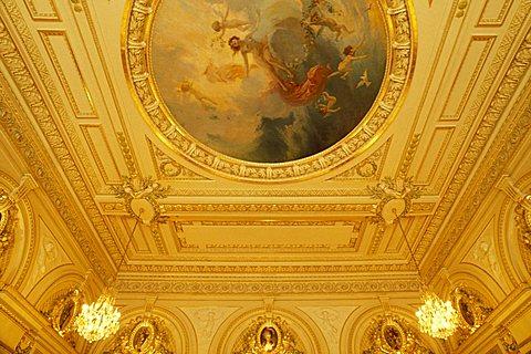 Ceiling, Le Louis XV restaurant, Montecarlo, Principato di Monaco, Europe