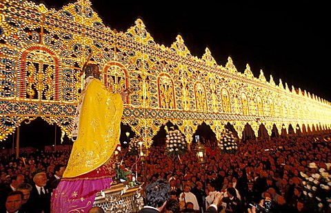 Illumination, San Nicola feast, Bari, Puglia, Italy