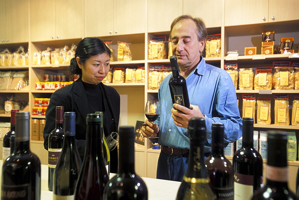 Ms. Kiyomi Yoshida and Mr. Riccardo Brun at Derè, Milan, Lombardy, Italy