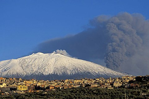 Etna eruption, Bronte, Sicily, Italy
