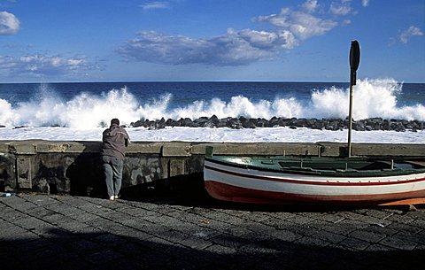 Seaside, Riposto, Sicily, Italy