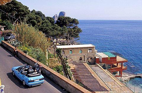 Foreshortening, Marina Piccola, Capri island, Campania, Italy