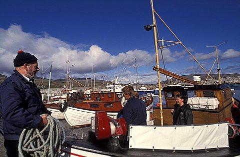 Sandur harbor, Sandoy Island, Faroer Islands, Denmark, Atlantic Ocean