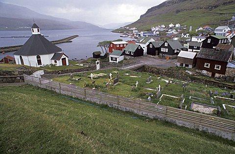 Haldarsvik village, Streymoy Island, Faroer Islands, Denmark, Atlantic Ocean