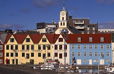 The capital city Torshavn, Streymoy Island, Faroer Islands, Denmark, Atlantic Ocean