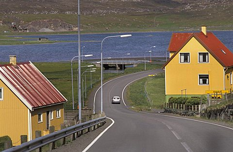 Sandur village, Sandoy Island, Faroer Islands, Denmark, Atlantic Ocean