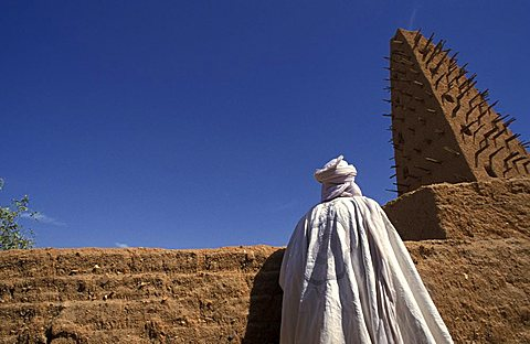 Agadès mosque, Agadès, Republic of Niger, West Africa, Africa