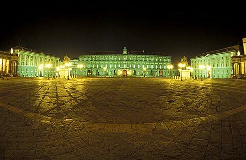 Royal palace, Plebiscito square, Naples, Campania, Italy