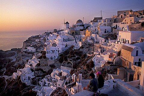 Cityscape, Oia, Santorini island, Greece, Europe
