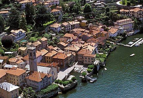 Cityscape, Torno, Como lake, Lombardy, Italy