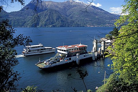 Ferries, Varenna, Como lake, Lombardy, Italy