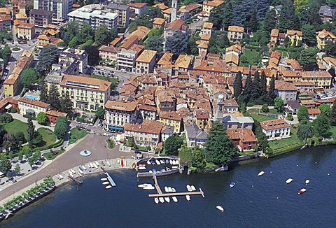Cityscape, Cernobbio, Como lake, Lombardy, Italy