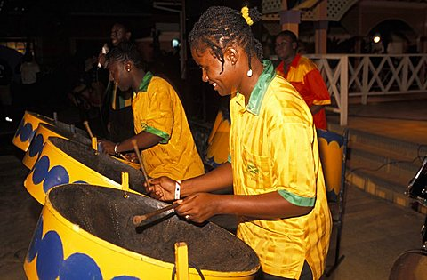 Steel Band players and musician, Jamaica, Caribbean, West Indies, Central America